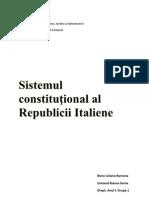 Sistemul constituţional al Italiei