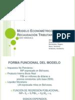 Modelo Econométrico de Recaudación Tributaria