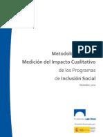 Metodología para la Medición del Impacto Cualitativo de los Programas de Inclusión Social