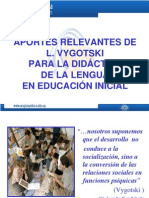 Aportes de L. Vigotsky para la Didáctica de la Lengua en Educación Inicial
