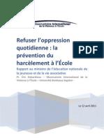 Refuser l Oppression Quotidienne La Prevention Du Harcelement Al Ecole 174645