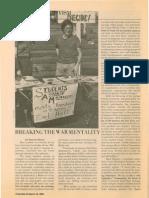 BARACK OBAMA ARTICLE 1983:Breaking the War Mentality