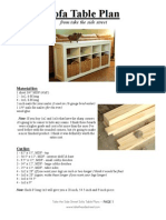 Sofa Table Plan