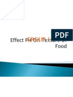 Effect PH on Texture of Food