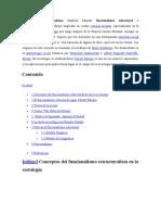 Funcionalismo estructural en socilogía