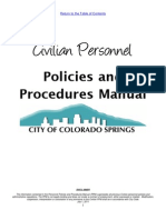 City of CS HR Manual