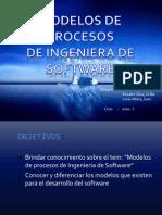 DIAPOSITIVA MODELOS DE PROCESOS DE INGENIERIA DE SOFTWARE
