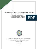gbtu thesis format