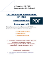 Calculadora Financier A HP 17bII Original