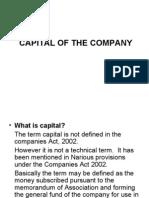 Capital of the Company
