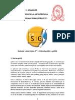 Guía de Laboratorio 1 gvSIG