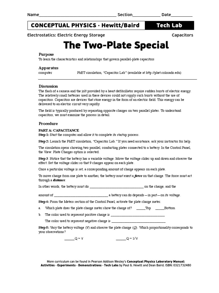 Two Plate Special | Capacitance | Capacitor
