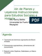 Taxonomia de Bloon - Carta Descriptiva