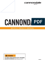 2008 Cannon Dale Bicycle Owners Manual En