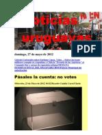 Noticias Uruguayas Domingo 27 de Mayo Del 2012