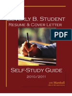 Beverly B Student Resume Self-Study Guide 2010