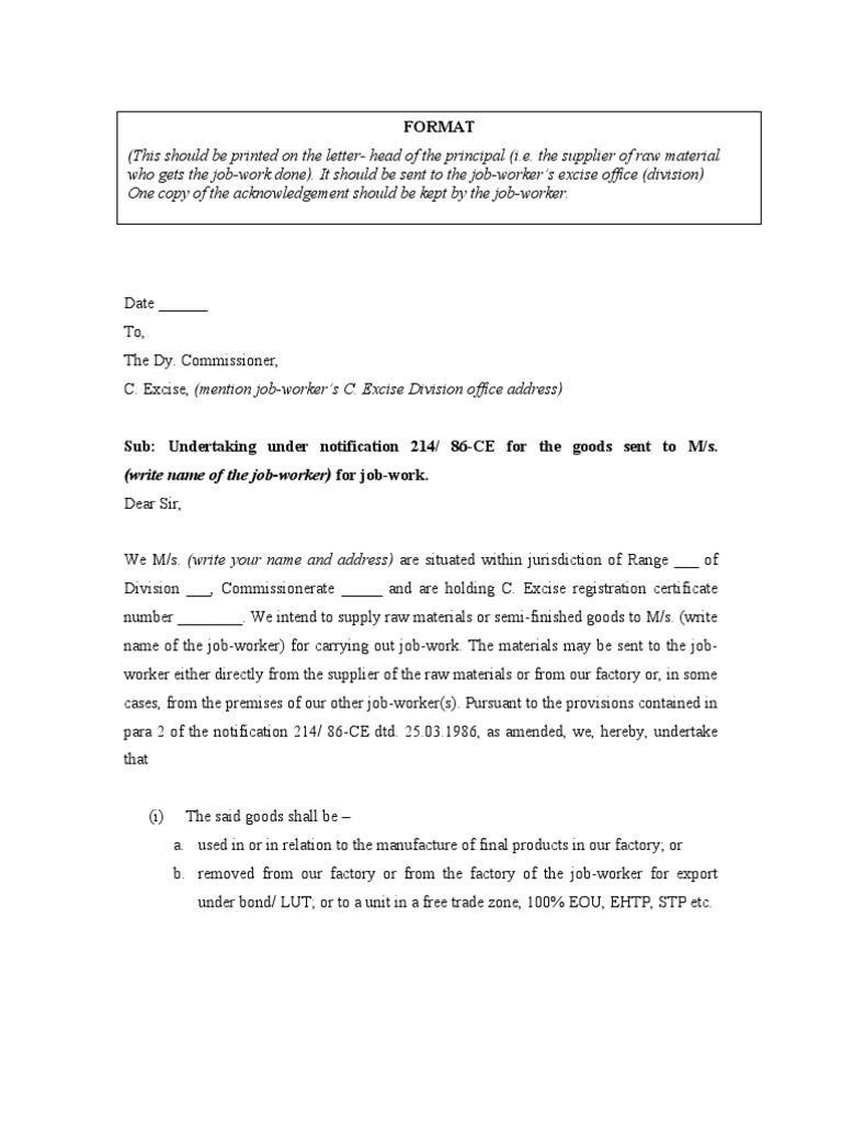 Job work declaration under 214 86 spiritdancerdesigns Gallery