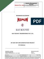 Sample Sap Pp Business Blueprint