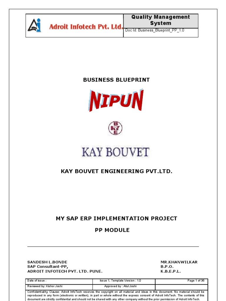 Sample sap pp business blueprint business process information sample sap pp business blueprint business process information technology malvernweather Choice Image