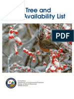 CT Native Tree and Shrub Availability List