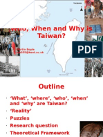 Who, When and Why is Taiwan [1]
