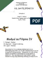 modyul sa filipino