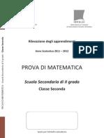 Prova di Matematica II Superiore