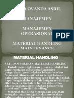 material handling dan maintenance