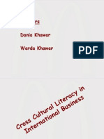 Cross Cultural Literacy of Mc Donald's