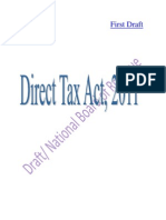 Draft Direct Tax Act 2012