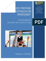 Raport Studiu Motivatia in Invatare v1