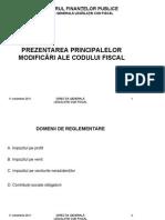 Sinteza Modificari Cod Fiscal