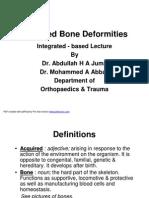 Acquired Bone Deformities