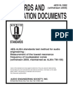 Aes19-1992- Loudspeaker Resonance Measurement Procedures