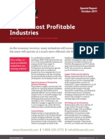 Top 10 Most Profitable Industries