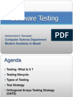 SW Testing MAM Seminar