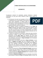 Alteração do formato Pedagógico e cronograma
