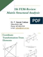 CES 6116 FEM Review of Matrix Analysis
