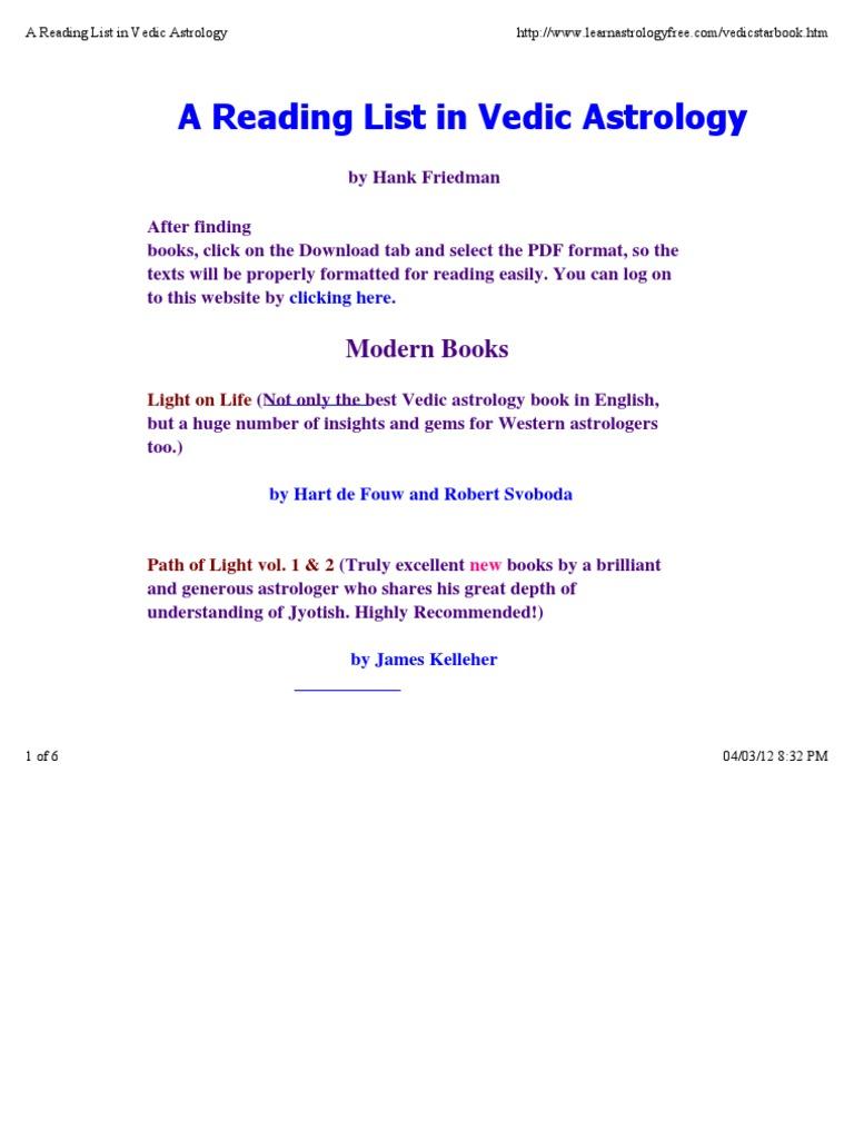 Vedic Astrology Books Pdf