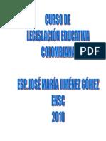 Curso legislacion educativa