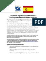 Visiting Teachers From Spain Program