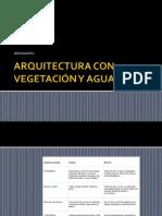 ARQUITECTURA CON VEGETACIÓN Y AGUA