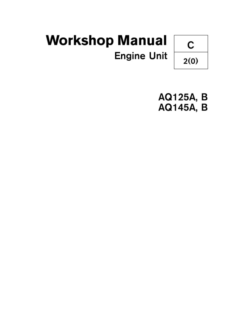 volvo aq125 145 a b service manual piston cylinder engine rh scribd com