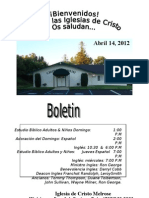Boletin Semanal 04-14-2012