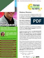Yann Mongaburu - Lettre aux Habitants - 3ème circonscription de l'Isère