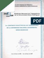 1er Contrato Colectivo de los Trabajadores de la Universidad Nacional Experimental Simón Rodríguez UNESR