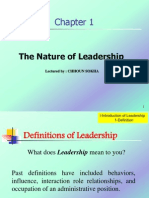 Chapter 1 the Nature of Leadership