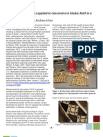 Ethnomathematics Applied to Classrooms in Alaska Math in a Cultural Context
