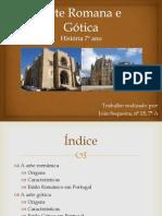 Arte Romana e Gótica
