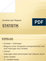 4-Korelasi & Regresi